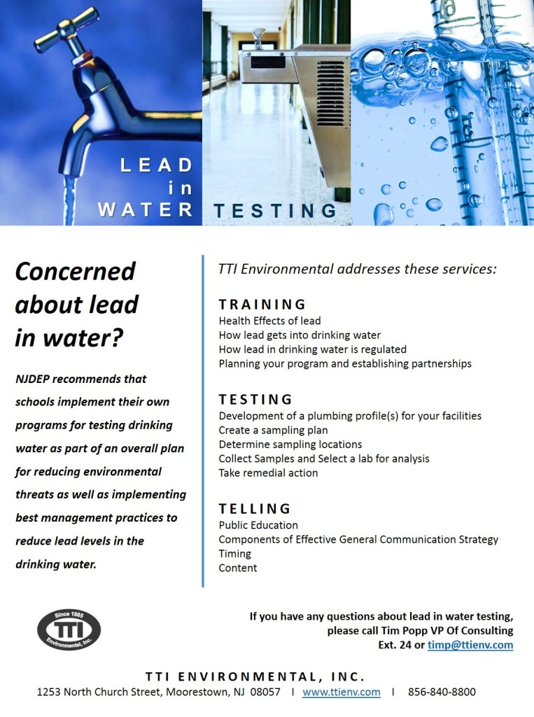 Lead in water testing