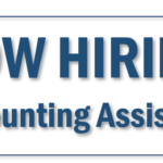 Accounting Assistant Position – Immediate Opening